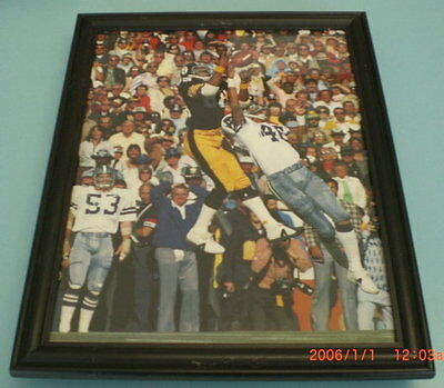 STEELERS SWANN vs COWBOYS SUPERBOWL X FRAMED PRINT