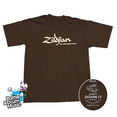 Zildjian Classic Chocolate T-Shirt (Genuine Zildjian Merchandise)
