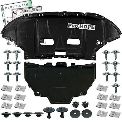 Audi A4 B6/B7 (2001-2008) UNDER ENGINE + Gearbox  COVER --new-- HDPE ++ CLIPS