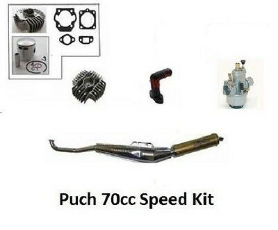 PUCH 70cc Big Bore Hi Performance Compl Engine Kit - with 15mm Carburetor
