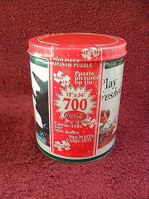 "COCA-COLA Collectible ""Play Refreshed"" 700 Piece ""JIGSAW"" PUZZLE TIN"