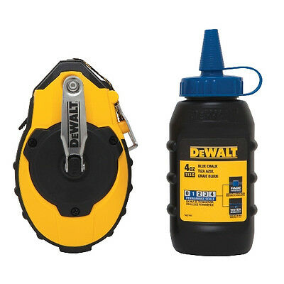 DeWALT DWHT47143 100 Foot 30 Meter Chalk Reel W/ 4 oz. Blue Refill Kit