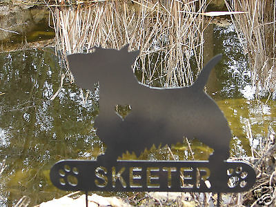 Scottish Terrier Garden Plaque PET MEMORIAL Yard Stake Personalized Dog Scotty