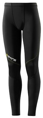 Skins Compression A400 Youth Long Tights (BLACK / YELLOW) + FREE POSTAGE