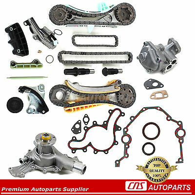 Ford Mazda Mercury 4.0L SOHC V6 Engine Timing Chain Kit w/ Gears+Water, Oil Pump