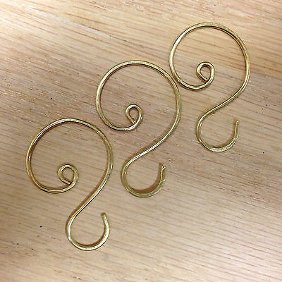 "Gold Ornament Hooks, 1 1/8"" to 1 1/4""  length"