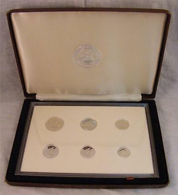 Central Bank of Kuwait 1987 Silver Proof Set - Extremely Low Mintage