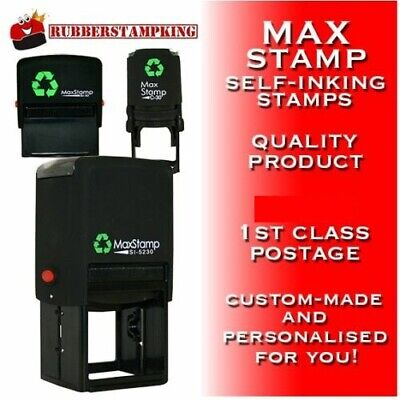 Business Self Inking Rubber Stamp Eco Friendly - Custom, Personalised, Bespoke