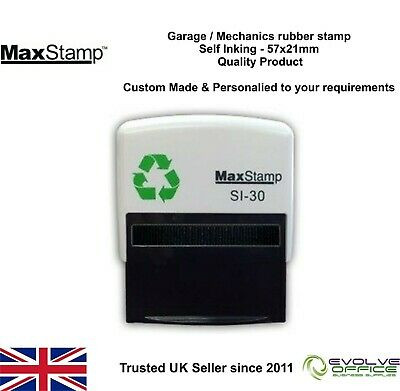 Garage Rubber Stamp - Self Inking - Excellent Service & History - 57x21mm