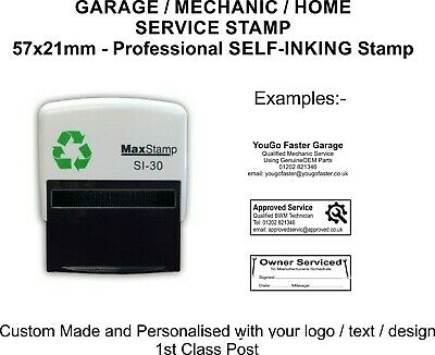 Mechanics Garage Rubber Stamp Self Inking Not Manual Excellent Service & History