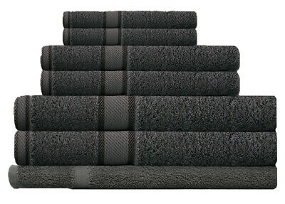 Charcoal 100%  Cotton Bath Towel Range 7 Pieces Set or Single Pieces Choice