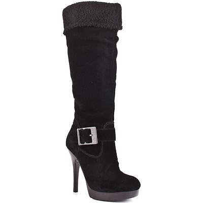 New Authentic Guess Boot By Marciano Edesia Black Suede/ Leather Upper Size 9M