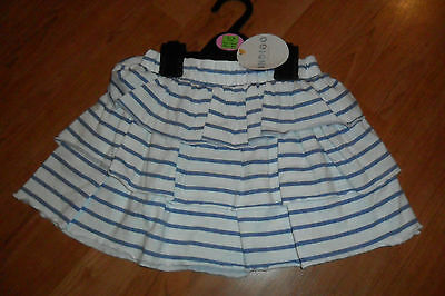 New With Tags Girls Summer Skirt Aged 12-18 Months 2-3 Years Indigo M&s