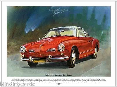 VOLKSWAGEN KARMANN GHIA COUPE - Fine Art Print - A3 size picture - Type 14 image