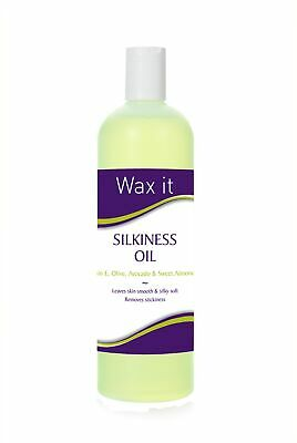 Wax It Silkiness Oil Vitamin E Olive Avocado Sweet Almond Oils Skincare 500ml