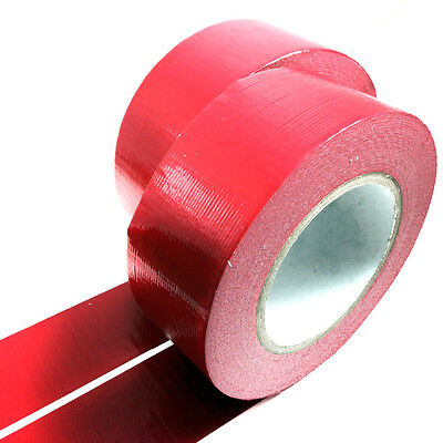 2, 50 METERS x 50mm RED GAFFER TAPE, CLOTH DUCK DUCT TAPES, GAFFA