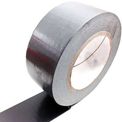 1, 50 METERS x 50mm GREY GAFFER TAPE, CLOTH DUCK DUCT TAPES, GAFFA
