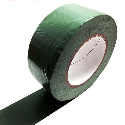 1, 50 METERS x 50mm GREEN GAFFER TAPE, CLOTH DUCK DUCT TAPES, GAFFA