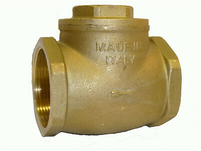 Brass Swing/Flap Check Valves F X F