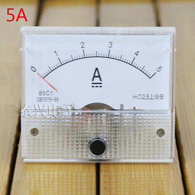 5A Analog Panel AMP Current Meter Ammeter Gauge 85C1