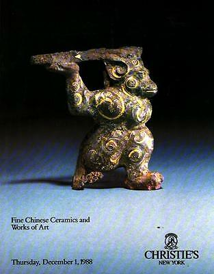 Christie's Chinese Ceramics & Works of Art Auction Catalog 1988
