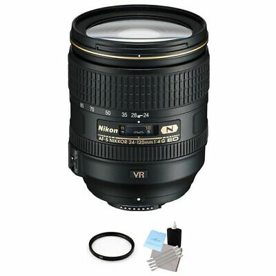 Nikon Nikkor AF-S 24-120 mm f/4G VR ED Lens + UV Filter & Cleaning Kit