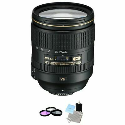 Nikon Nikkor AF-S 24-120 mm f/4G VR ED Lens + UV Kit & Cleaning Kit