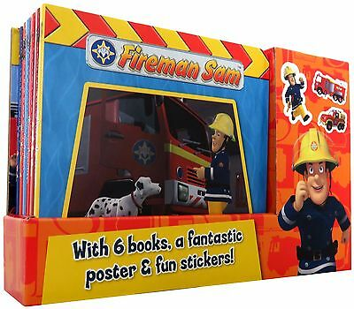Fireman Sam 6 Books Box Set Collection Gift Pack Fantastic Poster & Fun Stickers
