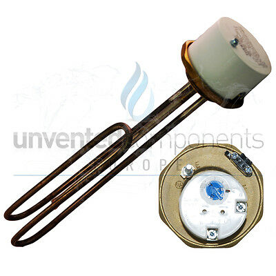 "1 3/4"" 3kW Incoloy  Immersion Heater 14"" for Unvented Cylinders"