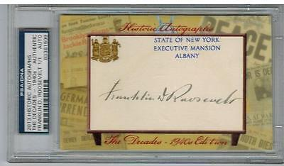 2013 Historic Autographs Decades Franklin D. Roosevelt Cut Auto 1/1