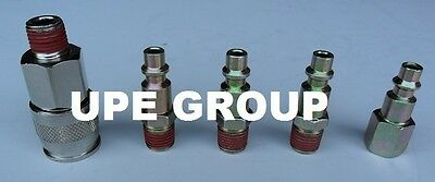 "5 Pack Steel 1/4"" Air Quick Coupler Connector Disconnect Compressor Hose    Ad79"