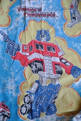 Vintage 80's G1 TRANSFORMERS ~HASBRO 1984 FITTED Twin 1 SHEET SHEETS FABRIC
