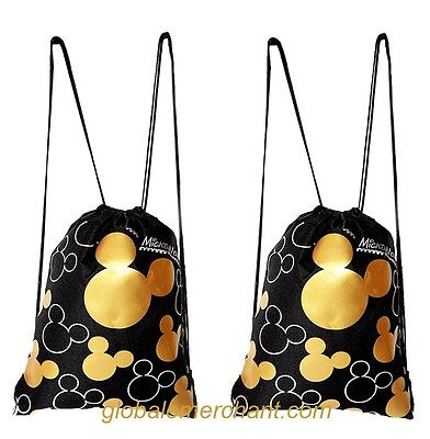 Disney Mickey Mouse Drawstring Backpack set of 2 NWT