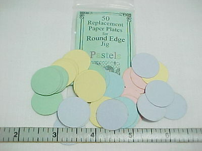 Dollhouse Miniature Rnd Edge Paper Plate blanks pastes- 1/12th Scale