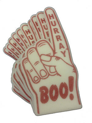 Panto or Wrestling BOO HURRAY Foam Hand Pack of 10