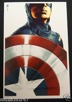 SDCC Comic Con 2012 EXCLUSIVE MONDo Capatin America Promo / lobby card AVENGERS