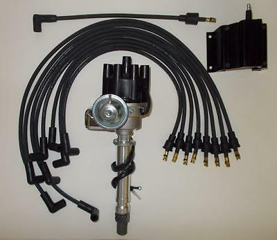 60K Coil SMALL BLOCK CHEVY BLACK Small HEI Distributor Wires Over Valve Cover