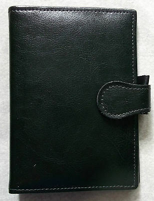 Organiser File Leather POCKET SIZE  LONDON COMPANY WALLET DIARY CARDS NEW