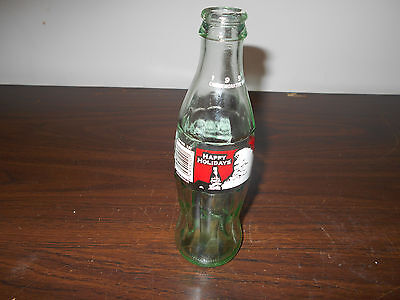 Coca-Cola 1994 Commemorative Bottle-Happy Holidays 8Fl.oz.  Coca-Cola Classic