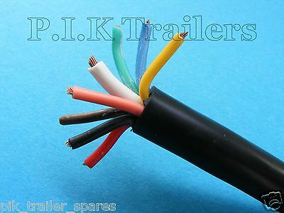 5 Metres - 8 Core HEAVY DUTY Cable 8 amp for 13 & 8 Pin Plug & Socket Trailer