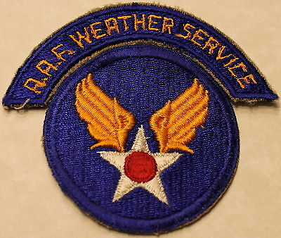 Army Air Force Weather Service Arc WWII Era Patch  b