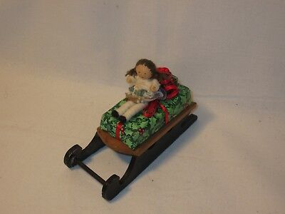 Accessory for Byers Choice 5 Inch Wood Sled with Gifts and Doll