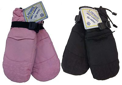 Ladies Technical Outdoor Sports Water Resistant Mitten Ski Gloves With Pocket