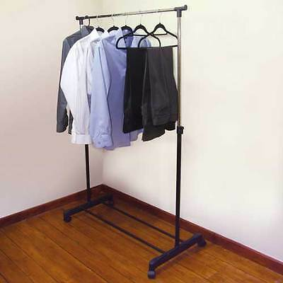 JVL Adjustable Garment Rack Clothing Rail Clothes Wardrobe with Wheels