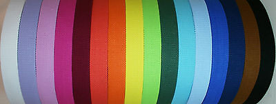 10 Yards Cotton Webbing - 1 1/4 (1.25) Inch Heavy Duty - Choose Your Color