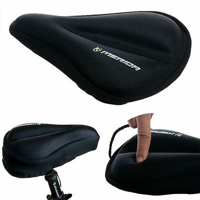 New Cycling Bike Women Bicycle Silicone Gel Cushion Soft Pad Saddle Seat Cover