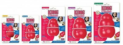 Kong Red Classic All Sizes Strong Rubber Boredom Breaker XXL XL Large Medium Sm