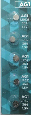 5 AG1 364 LR621 531 SR60 1.5V Alkaline Button Cell Watch Batteries Ship From USA