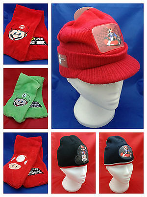 Super Mario Bros Hats and Scarves @ MrsMario's Ideal for winter Free P&P
