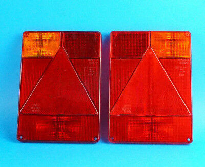 LH & RH Radex 6800 Replacement LENS for Rear Trailer Lights - Indespension